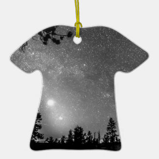 Forest Silhouettes Constellation Astronomy Gazing Double-Sided T-Shirt Ceramic Christmas Ornament