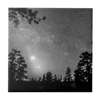 Forest Silhouettes Constellation Astronomy Gazing Tile