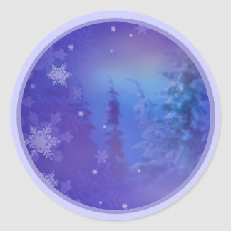 Forest Snow Flakes 1 small envelope seals Stickers