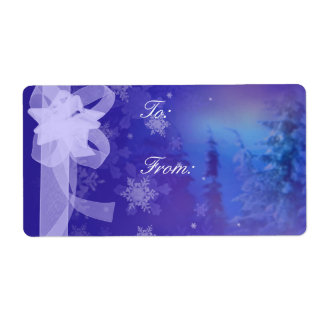 Forest Snow Flakes large tags