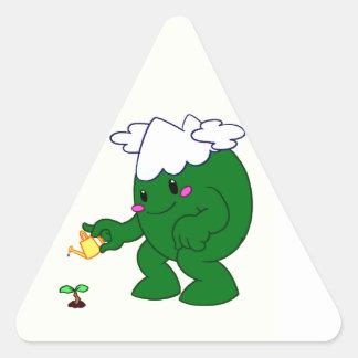 Forest Spirit Triangle Sticker