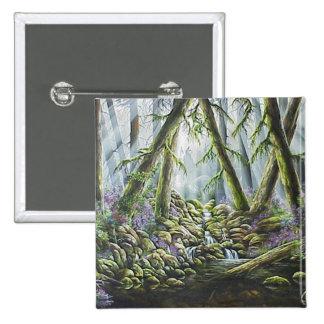 Forest Spirits / Indians in the mist Pinback Button