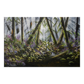 Forest Spirits Print of Oil Painting