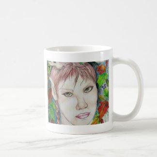 forest sprite classic white coffee mug