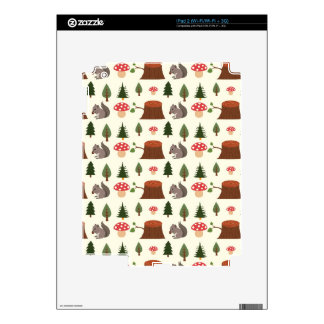 Forest Squirrel Pattern Skin For The iPad 2