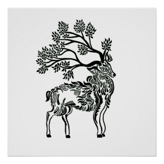 Forest Stag Poster