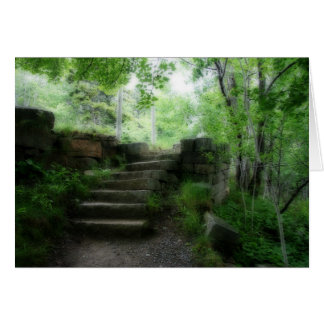 Forest staircase card