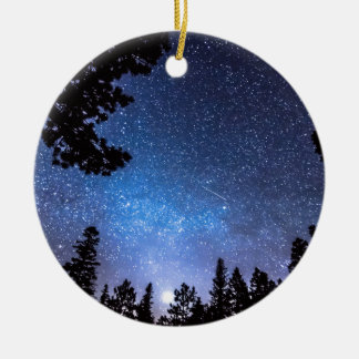 Forest Star Gazing An Astronomy Delight Ceramic Ornament