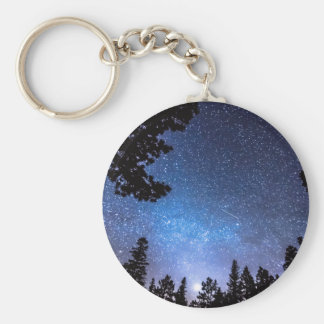 Forest Star Gazing An Astronomy Delight Basic Round Button Keychain