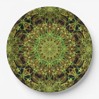 Forest Star Mandala Paper Plate