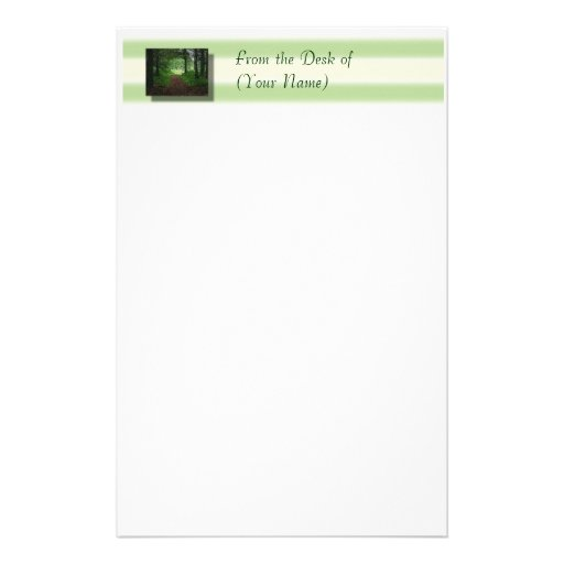 Forest Stationary - From the Desk of(Your Name) Stationery