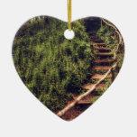 Forest Steps Ceramic Ornament