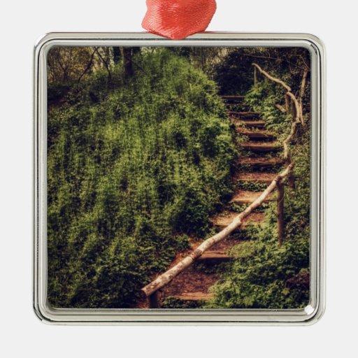 Forest Steps Metal Ornament