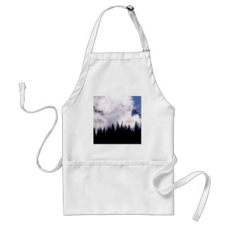 Forest Storm Clouds Swirl Adult Apron