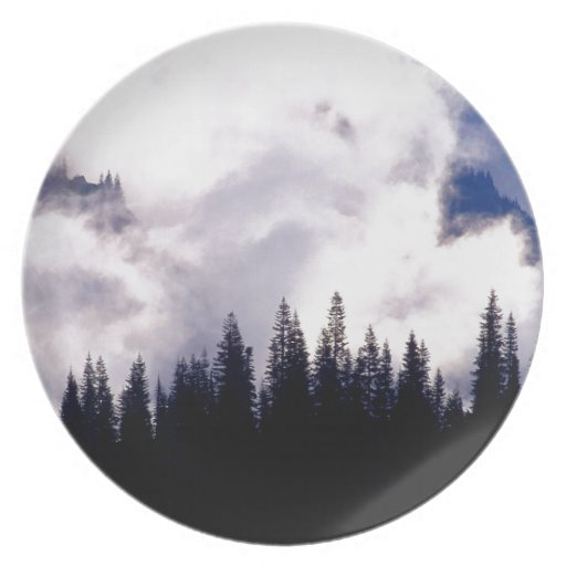 Forest Storm Clouds Swirl Plate