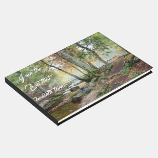 Forest Stream Trees Jesus Heals You Guest Book