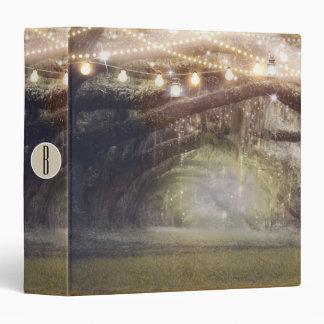 Forest & String Lights Rustic Wedding Planning 3 Ring Binder