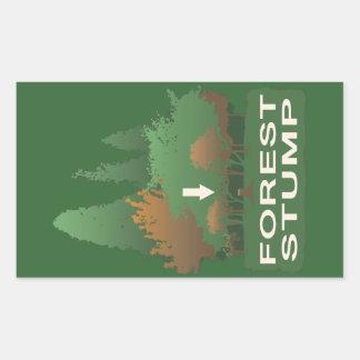 Forest Stump Rectangular Sticker