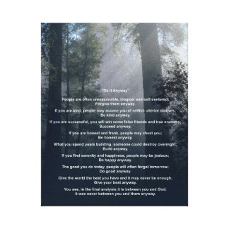 Forest & Sun Do It Anyway Canvas Print