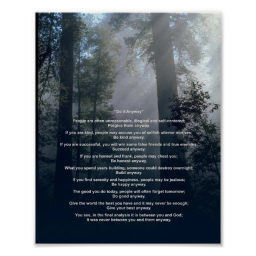 Forest & Sun Do It Anyway Posters