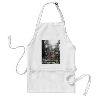 Forest Sun Rays in the Snow # 68 Adult Apron