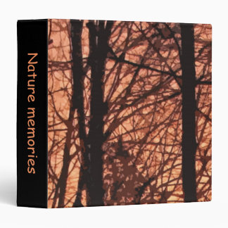 Forest Sunrise Abstract 3 Ring Binder