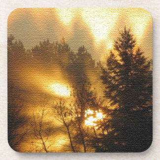 Forest Sunrise Drink Coasters