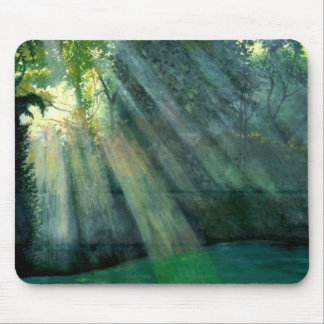 Forest Sunrise Mouse Pad
