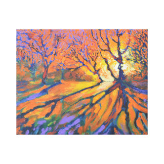Forest sunrise wrapped canvas