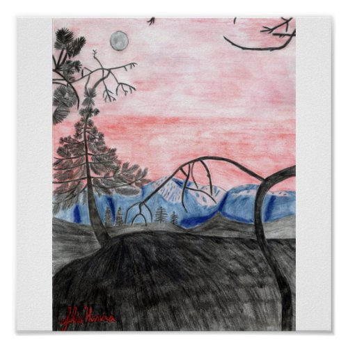 Forest Sunset Print by Julia Hanna print