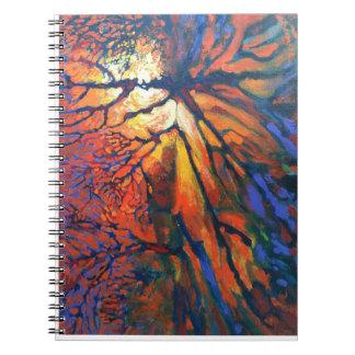 Forest sunset Spiral Photo Notebook