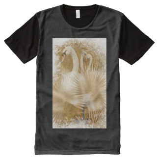 Forest swan girly nature lovers All-Over print t-shirt
