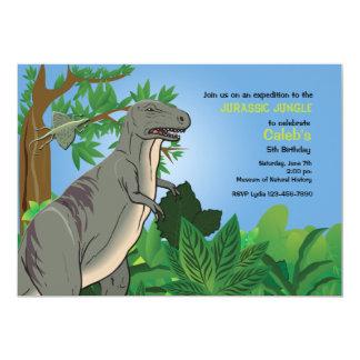 Forest T- Rex Dinosaur Invitation
