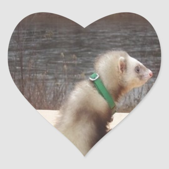 Forest the Ferret Accessories Heart Sticker