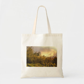 Forest Themed, A Densly Covered Forest With Severa Budget Tote Bag