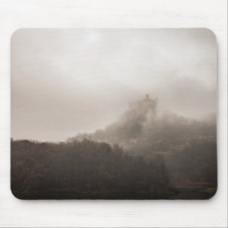 Forest Themed, A Thick Cloud Of Smoke Is Rising Fr Mouse Pad