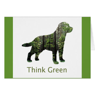 Forest Think Greeen Note Card