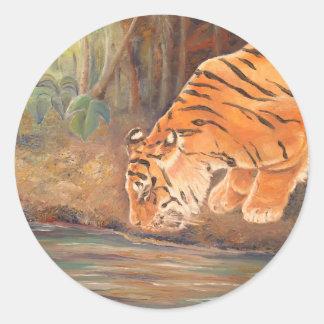 Forest Tiger Classic Round Sticker