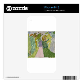 Forest Track by Edvard Weie iPhone 4 Decal