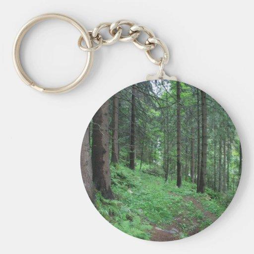 Forest Trail in Bad Gastein Keychain