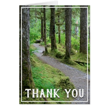 Forest Trail Thank You Card