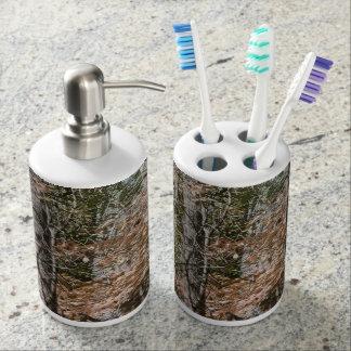 Forest Tree Camo Camouflage Nature Hunting Fishing Bath Set. Manly Bath Sets   Zazzle