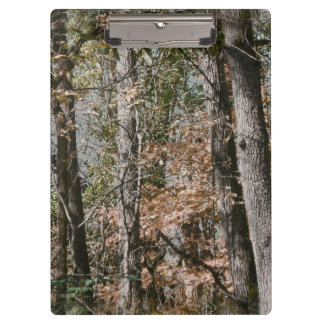 Forest Tree Camo Camouflage Nature Hunting/Fishing Clipboards