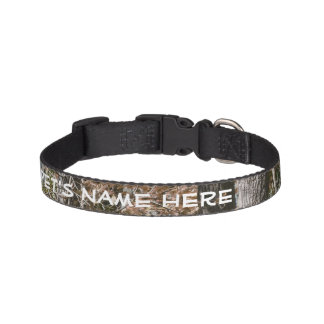 Forest Tree Camo Camouflage Nature Hunting/Fishing Dog Collar