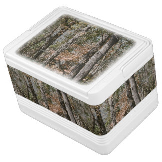 Forest Tree Camo Camouflage Nature Hunting/Fishing Igloo Drink Cooler
