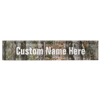 Forest Tree Camo Camouflage Nature Hunting/Fishing Desk Nameplates
