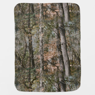 Forest Tree Camo Camouflage Nature Hunting/Fishing Receiving Blanket