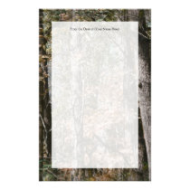 Forest Tree Camo Camouflage Nature Hunting/Fishing Stationery