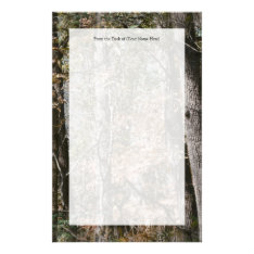 Forest Tree Camo Camouflage Nature Hunting/fishing Stationery at Zazzle