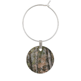 Forest Tree Camo Camouflage Nature Hunting/Fishing Wine Glass Charm